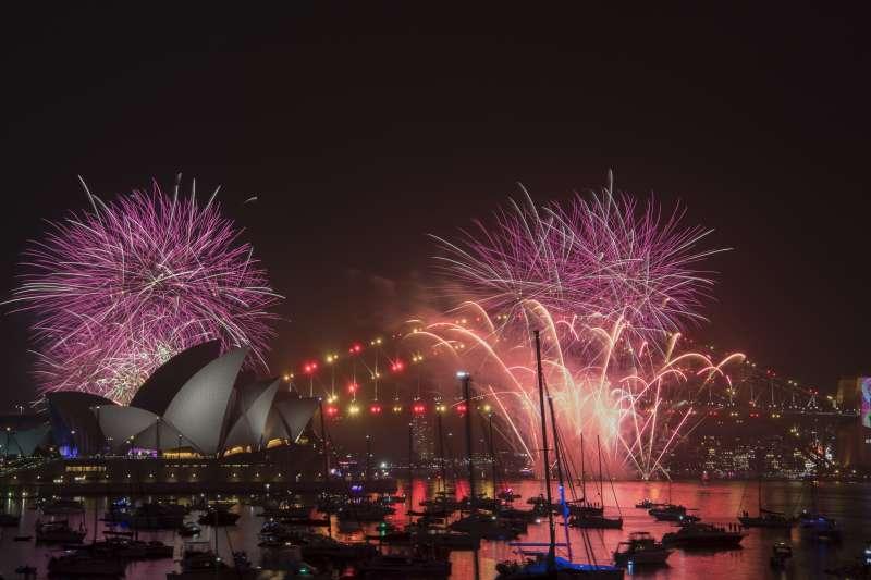 2018/2019跨年煙火,澳洲雪梨(AP)