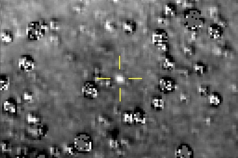 美國航空暨太空總署(NASA)「新視野號」(New Horizons)太空船要探測的小行星「終極遠境」(Ultima Thule)。(AP)