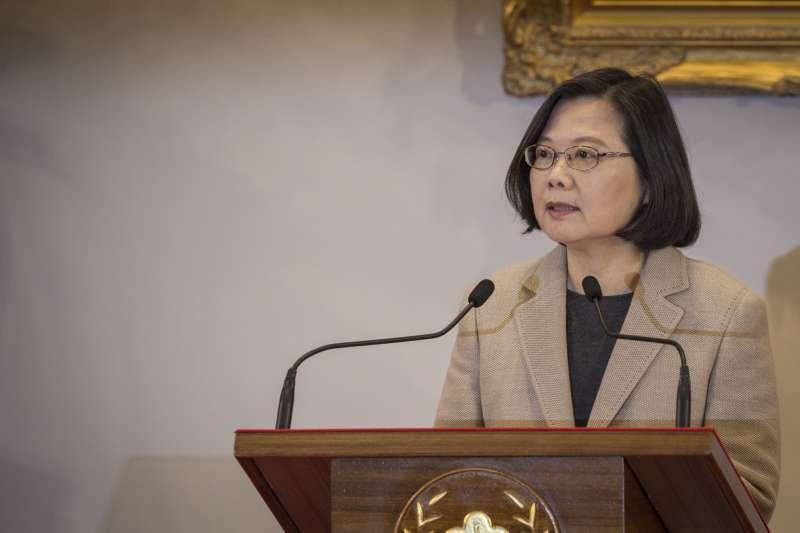 蔡英文總統強硬回應習近平告台灣同胞書, 網路聲望回溫。(總統府提供)