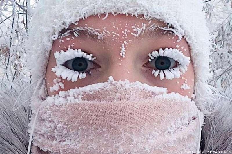 俄羅斯雅庫茨克,攝氏零下50度。(德國之聲)