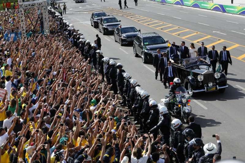 巴西新總統博索納羅於2019年1月1日宣誓就職。(AP)