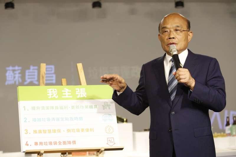 蘇貞昌在新北市長選戰敗選後繼續累積能量,近日可望接任行政院長。(資料照片,郭晉瑋攝)