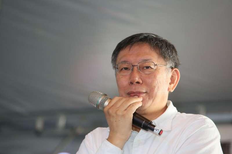 針對中國國家主席習近平日前發表《告台灣同胞書》40週年對台談話,台北市長柯文哲指出應該降低緊張、降低衝突可能性,不要以為台海絕對安全。(資料照,柯承惠攝)