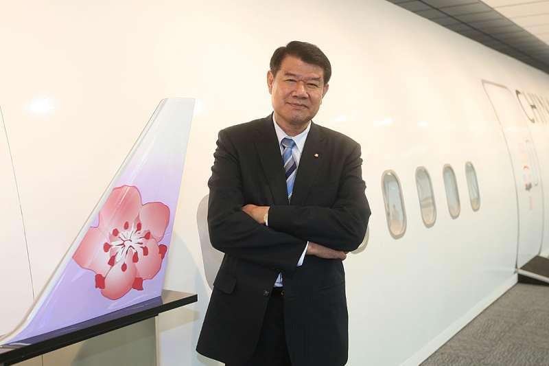 何煖軒接掌中華航空集團兩年多來,推出許多新變革。(柯承惠攝)