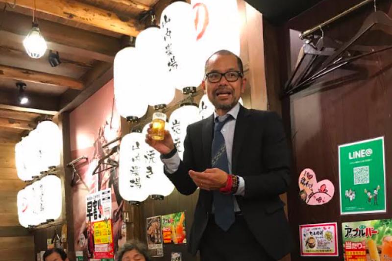松島泰勝主張做為原住民族的琉球人,得以行使自我決定權。(取自matusima3455 Twitter)