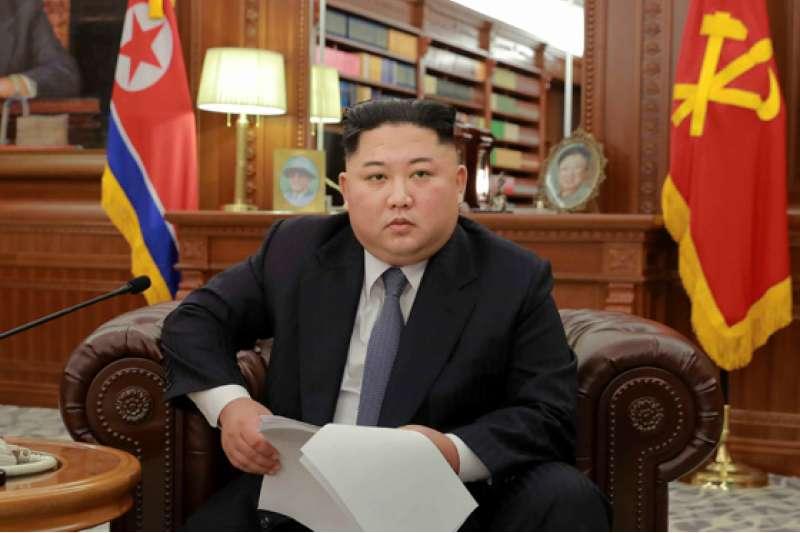 金正恩發表2019年新年談話。(勞動日報)