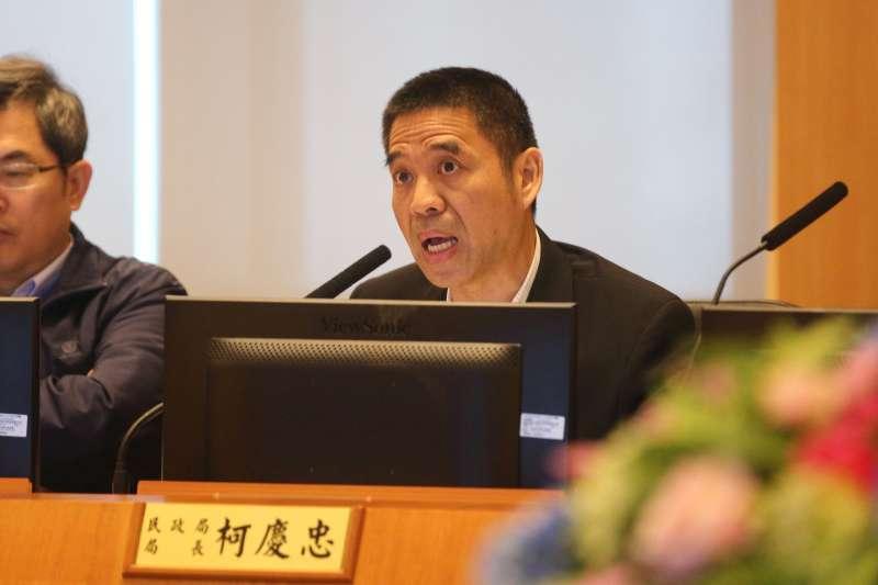 新北市民政局長柯慶忠表示,未來將進一步將錢與權下放公所,提升里長為民服務,及於災害發生時的應變能力與環境品質改善 。(圖/新北市民政局提供)