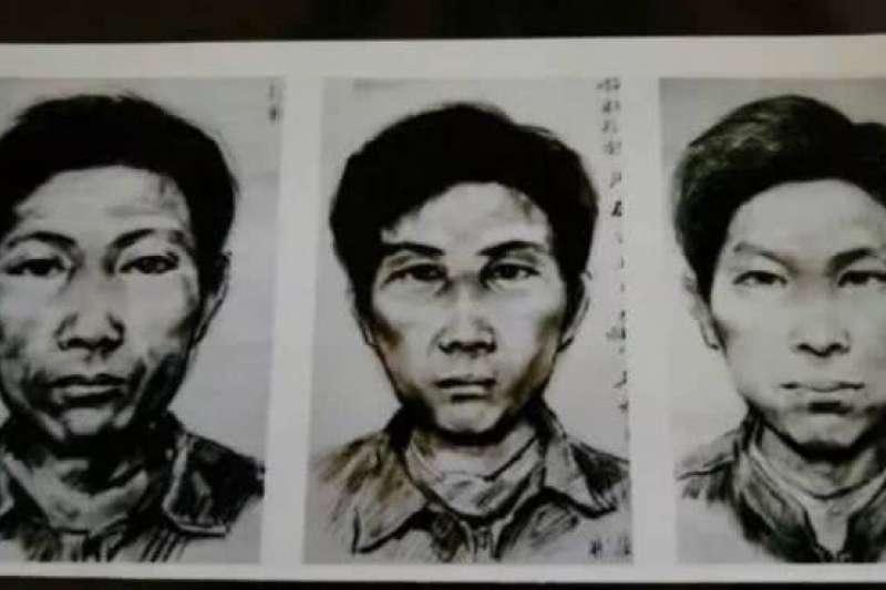 中國版「「開膛手傑克」的連續殺人案嫌疑人畫像(微博)