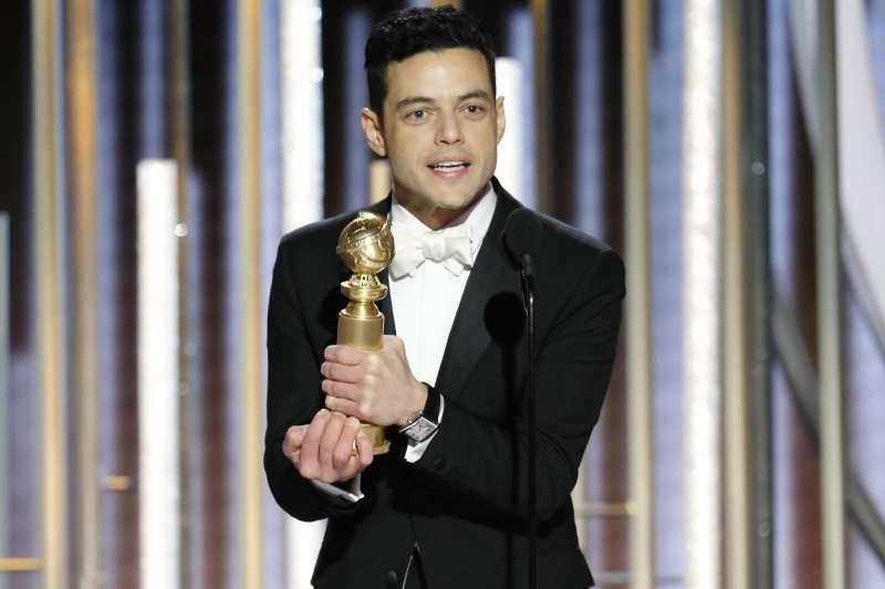 2019年第76屆金球獎,美國埃及裔男星雷米馬利克以《波希米亞狂想曲》成為影帝。(AP)