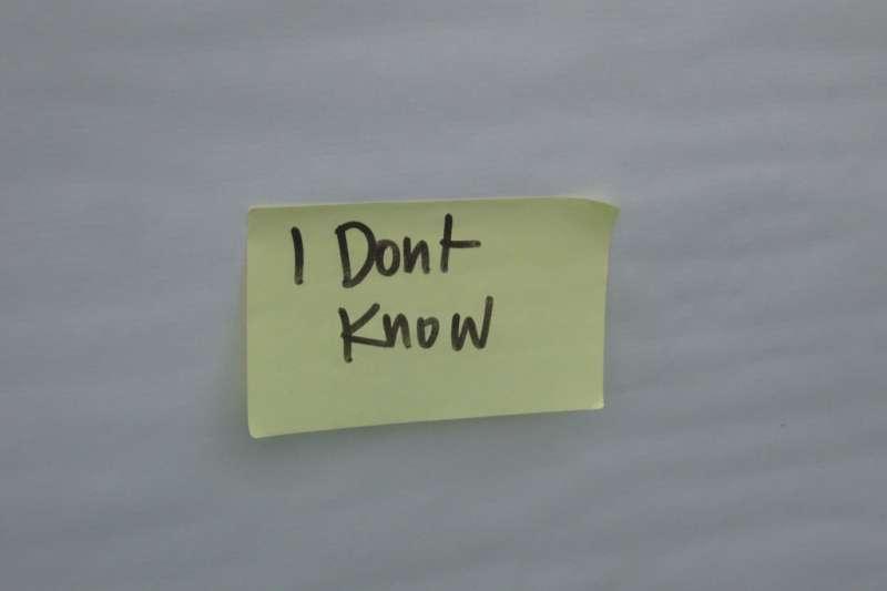 要表達自己不知道,要怎樣才不會讓人覺得你不負責任?(圖/Hilary Perkins@Flikr)