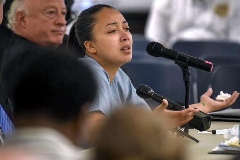 辛托雅.布朗(Cyntoia Brown)因為在16歲時殺人被判處無期徒刑,2019年1月7日獲得田納西州州長特赦。(美聯社)