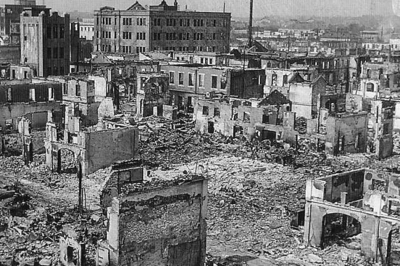 關東大地震之後的有樂町。(圖/維基百科)
