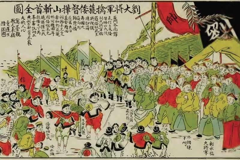 1895年這段「台灣民主國」歷史,是以獨立為名、回歸清國為最終目的,製造日本國要「佔領」台灣的欺妄假象。(圖/想想論壇)