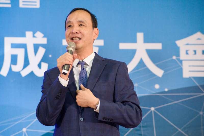 20190109-生物科技論壇暨成立大會,前新北市長朱立倫致詞。(甘岱民攝)