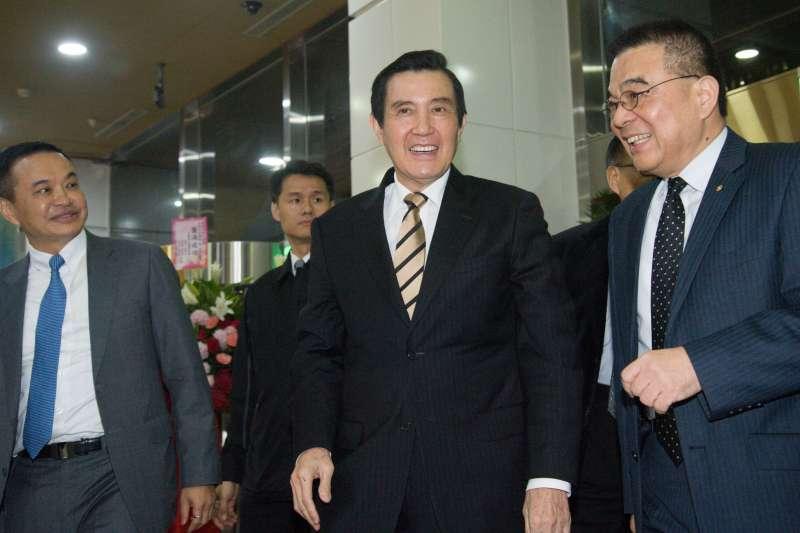 20190109-生物科技論壇暨成立大會,前總統馬英九出席。(甘岱民攝)