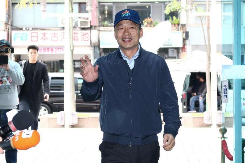20190109-韓國瑜至國民黨中央黨部參與國民黨15縣市長便當會。(蔡親傑攝)