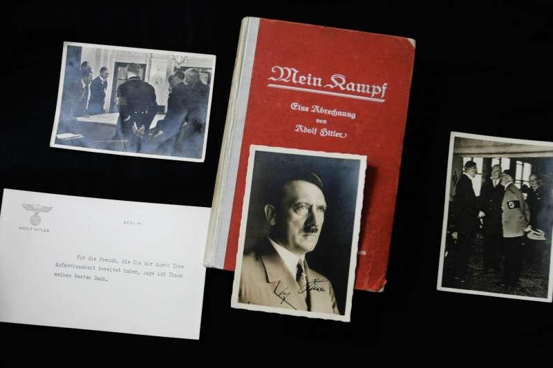 倫敦拍賣行曾拍賣希特拉自傳「我的奮鬥」初版兼簽名本,以及其他納粹相關藏品。(圖片由*CUP提供)