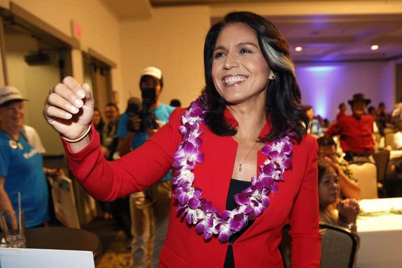美國夏威夷州民主黨籍聯邦眾議員加巴德(Tulsi Gabbard)(AP)