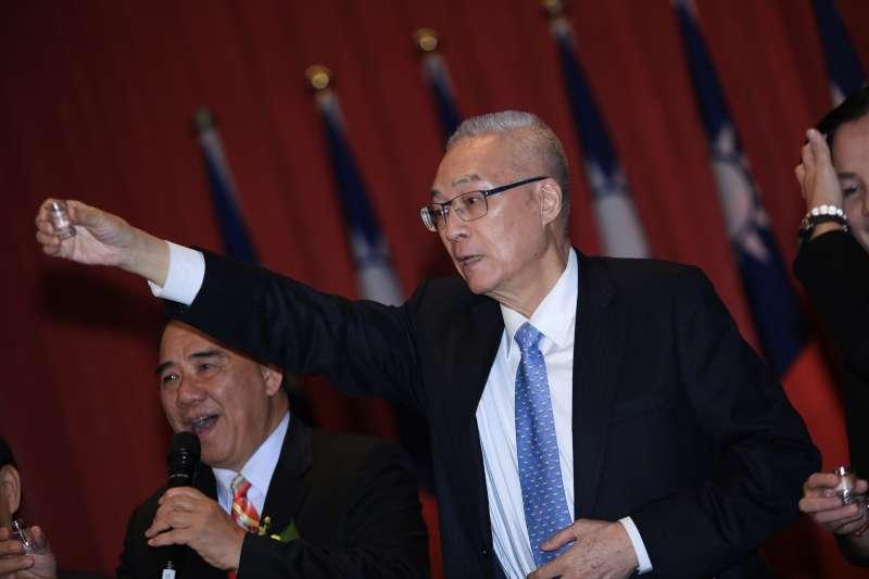 20190113-國民黨主席吳敦義出席「中華民國青溪總會 會員代表大會」。(簡必丞攝)