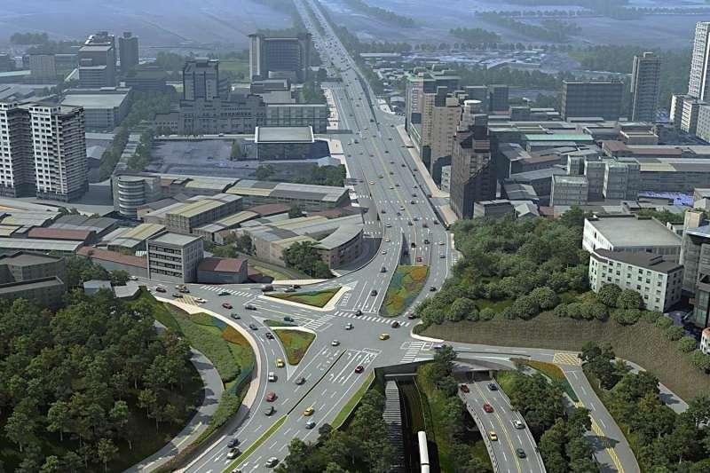 隨著新北市發展,作者表示,淡海新市鎮居住人數快速增加,在地民眾對於興建淡北道路的呼聲強烈,希望能讓打通淡水地區交通壅塞任督二脈的淡北道路能順利興建。 (資料照,新北市工務局提供)