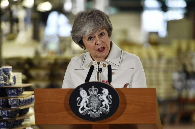 2019年1月14日,英國脫歐進入關鍵時刻,首相梅伊在國會表決《退出協議》前發表談話(AP)