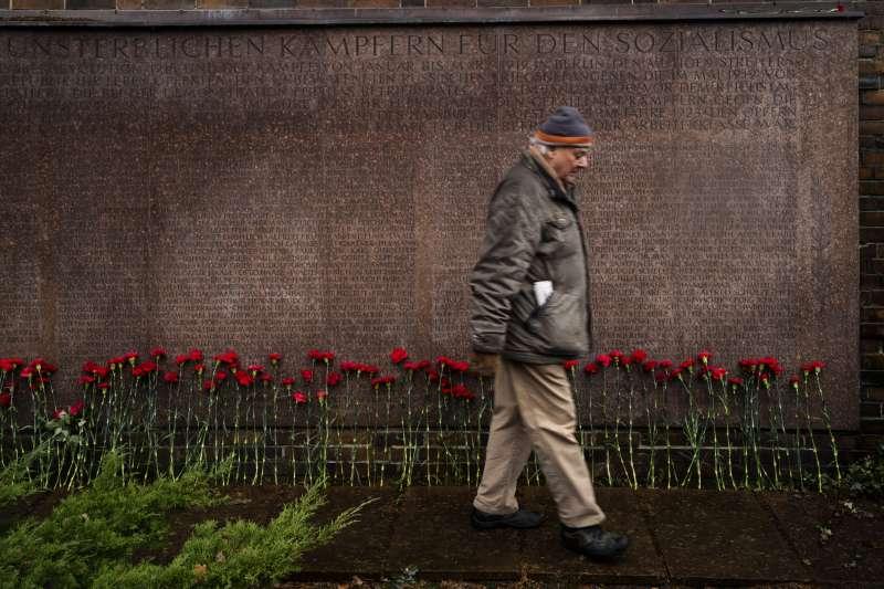 2019年1月,歐洲左派齊集柏林,向1919年遇害的盧森堡(Rosa Luxemburg)與李卜克內西(Karl Liebknecht)致敬(AP)