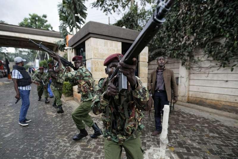 2019年1月15日,肯亞首都的「都喜酒店」附近發生恐怖攻擊(AP)
