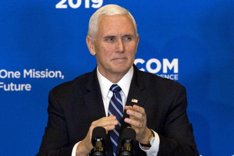 美國副總統彭斯認為,相挺台灣是為了在美中體制之爭中回應中國進逼。(AP)