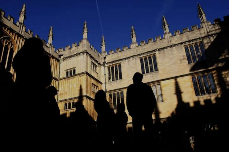 英國牛津的牛津大學圖書館。(美聯社)