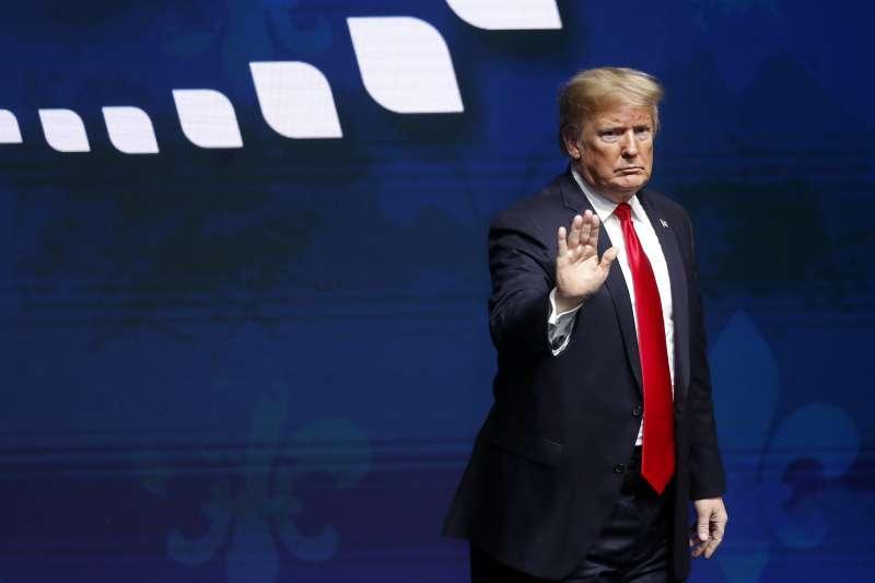美國總統川普上任兩周年。(AP)