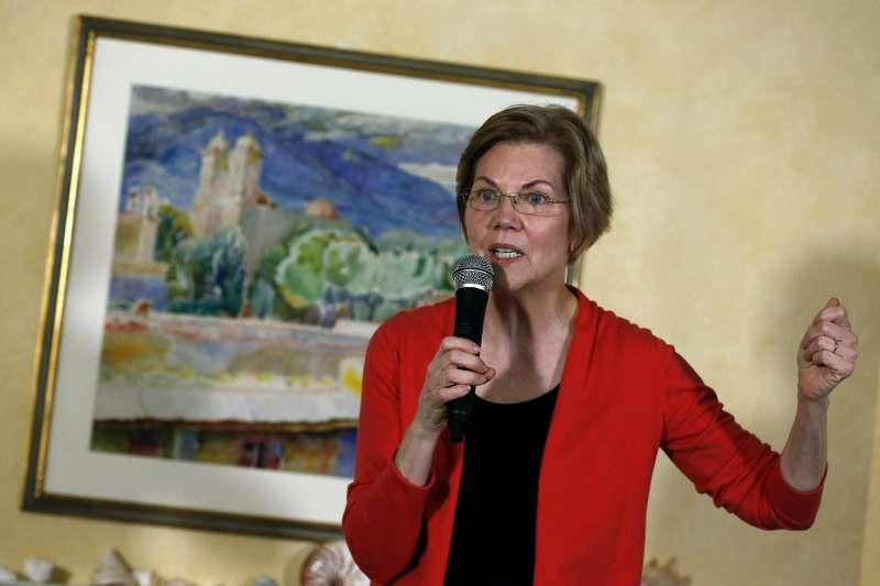 民主黨籍反川普健將、麻州聯邦參議員華倫(Elizabeth Warren)。(美聯社)
