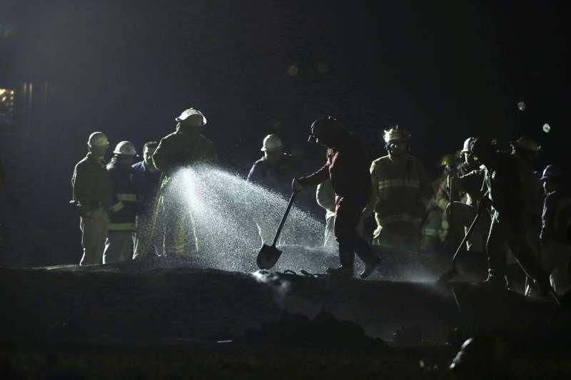 2019年1月18日,墨西哥中部伊達哥州一個煉油廠發生輸油管爆炸,造成慘重死傷(AP)