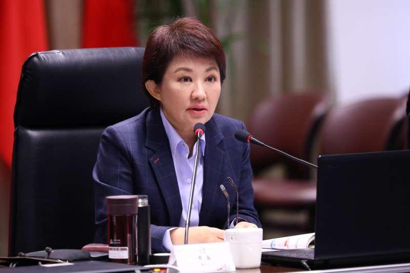台中市長盧秀燕5日在市政會議痛批台電降載「大小眼」,呼籲「別拿中部人的肺發電」。(資料照,台中市政府提供)