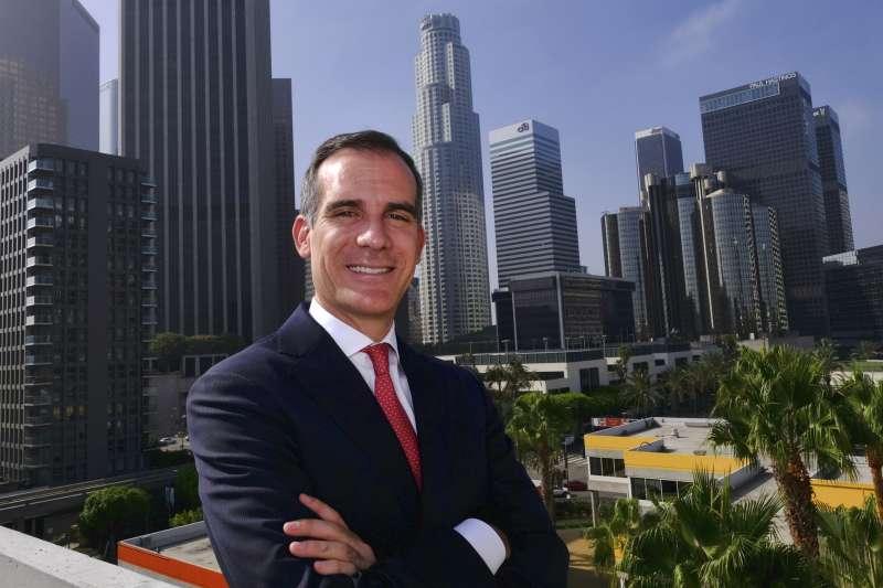 洛杉磯市長賈西迪(Eric Garcetti)(AP)