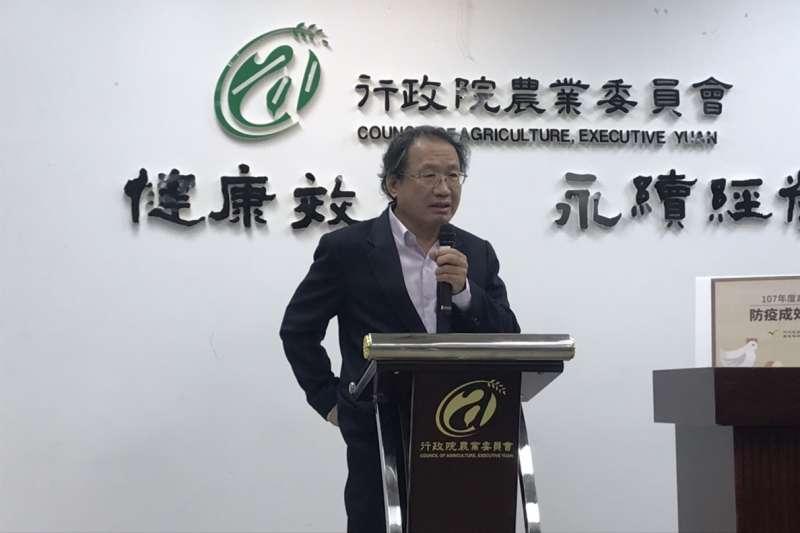 20190123_非洲豬瘟防疫記者會,農委會副主委黃金城。(廖羿雯攝)