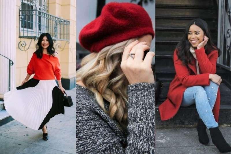 過年一定要穿喜氣紅,但許多人擔心萬一沒搭好,很容易顯得俗氣或老氣。(圖/女子學提供)