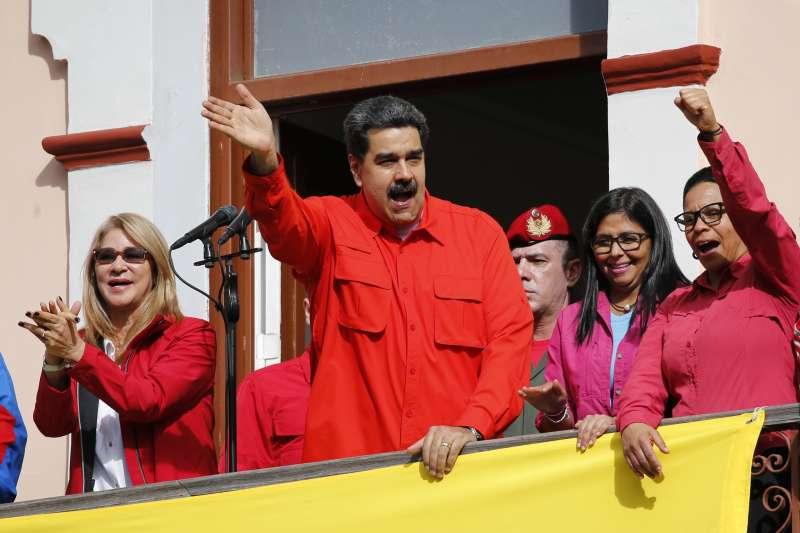 2019年1月23日,委內瑞拉總統馬杜洛(Nicolas Maduro)面臨國內外變局,誓言絕不投降(AP)