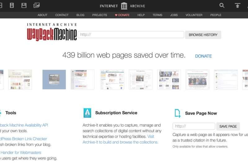 「網站時光機」網站「Wayback Machine」可以幫你找到你十年前的回憶,只要隨便輸入一個網址,就能看到這頁面以前在網路上長的樣子,快去試試重溫往日時光吧!(圖/智慧機器人網)