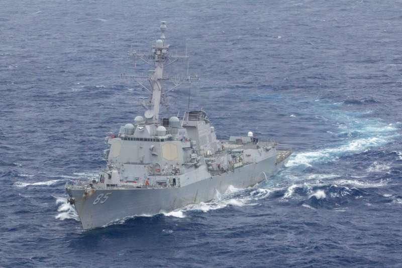 美軍太平洋艦隊勃克級驅逐艦「麥坎貝爾號」(USS McCampbell)。(美國海軍官網)