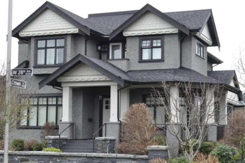 孟晚舟保釋期間居住在這座房子裡。(BBC中文網)