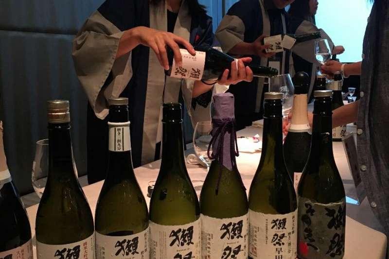 知名的日本酒「獺祭」由旭酒造生產。(取自旭酒造臉書粉絲專頁)