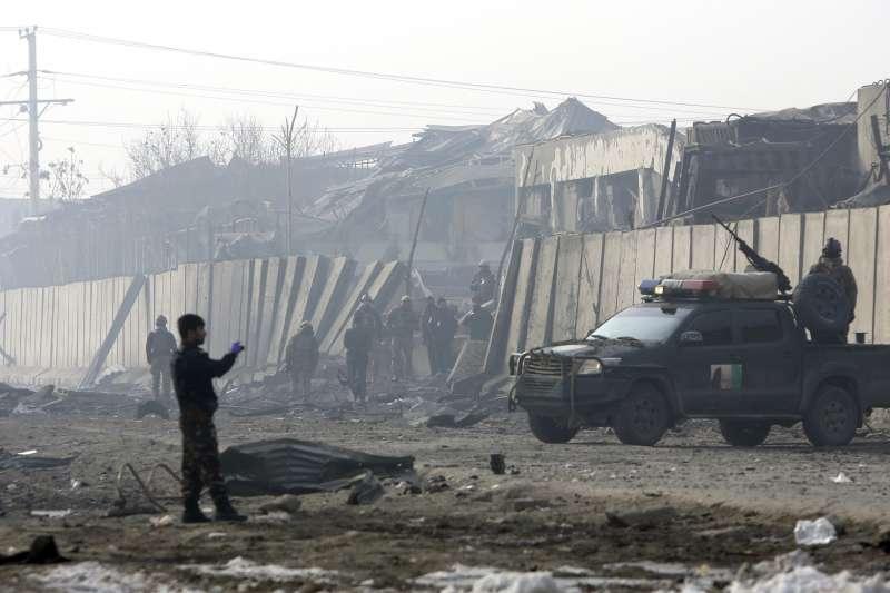 阿富汗戰爭自2001年10月延燒至今,全國滿目瘡痍(AP)