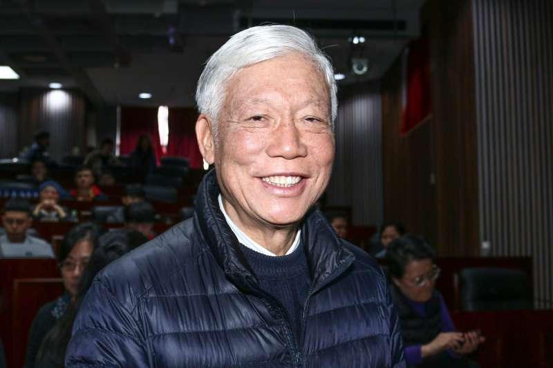 20190129-香港占中三子朱耀明出席「雨傘運動與東亞民主展望論壇」。(蔡親傑攝)