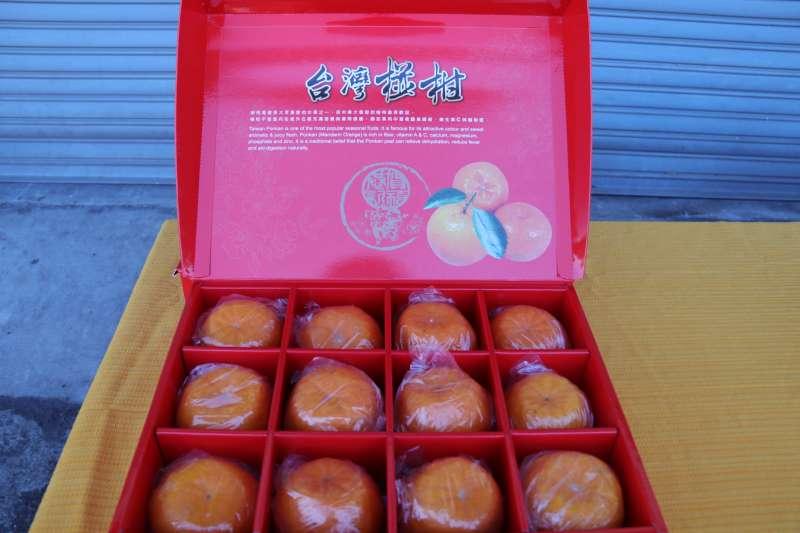 20190130-羿雯春節留稿配圖-柑橘禮盒示意圖。椪柑禮盒。(農糧署提供)