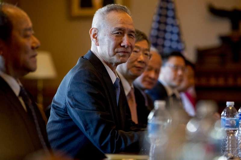 中國國務院副總理劉鶴在華府展開貿易磋商。(美聯社)