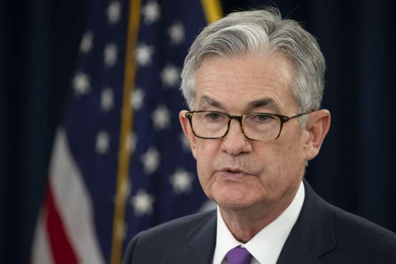 美國聯準會主席鮑威爾表示,在2018年4次提高利率後,由於美國經濟遭遇「亂流」衝擊,進一步升息的理由已經減弱。(美聯社)