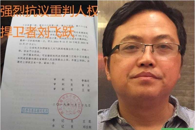 中國人權新聞網站創辦人劉飛躍(民生觀察)
