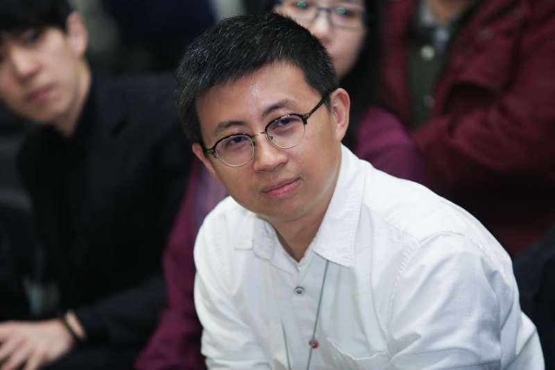 20190131-台北市議員 邱威傑31日出席思辨之夜。(簡必丞攝)