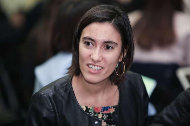 20190131-法國國會議員 Paula Forteza31日出席思辨之夜。(簡必丞攝)
