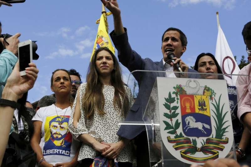 委內瑞拉反對派領袖瓜伊多。(AP)